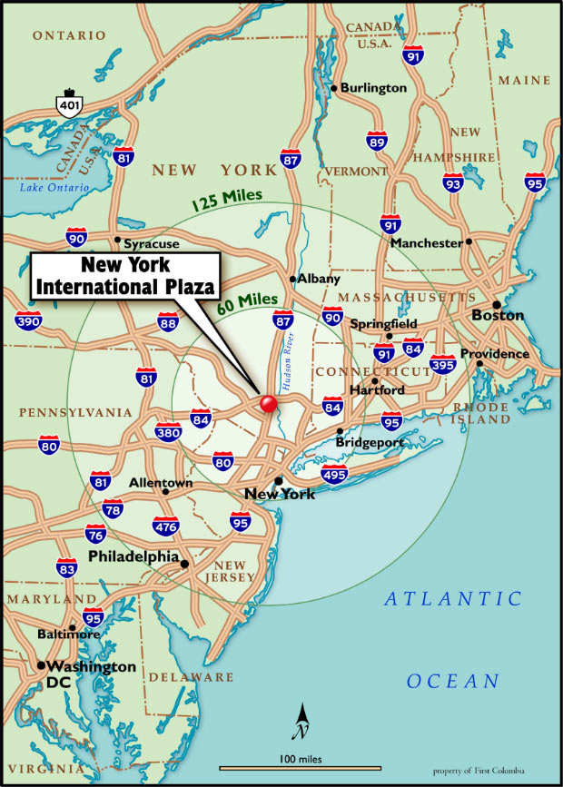 New York International Plaza Area Location Map